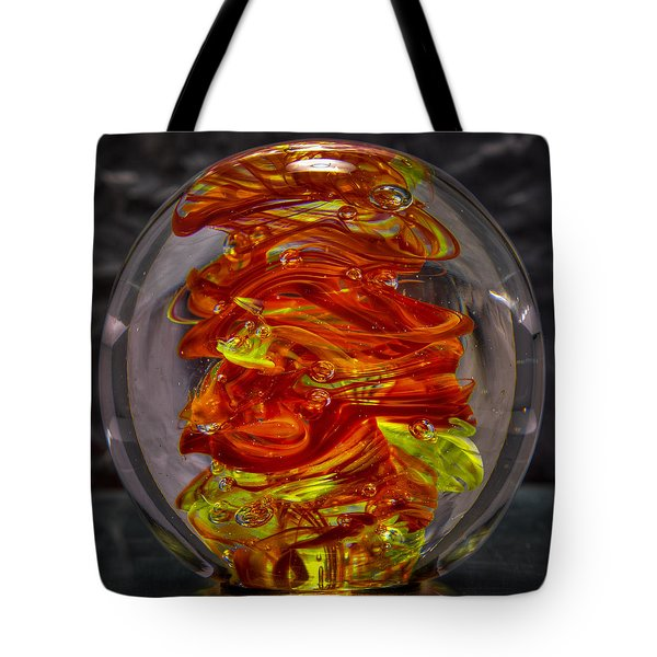 Glass Sculpture - Fire - 13r1 Tote Bag by David Patterson
