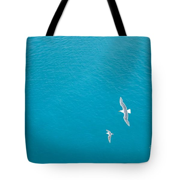 Gliding Seagulls Tote Bag by Jacqueline Athmann