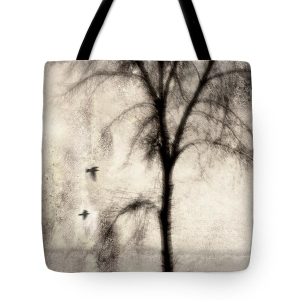 Glimpse of a Coastal Pine Tote Bag by Carol Leigh