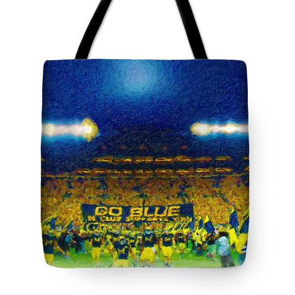 Glory At The Big House Tote Bag by John Farr