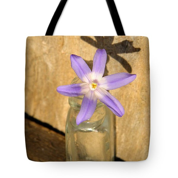 Glory Of The Snow In A Jar Tote Bag by Chris Berry