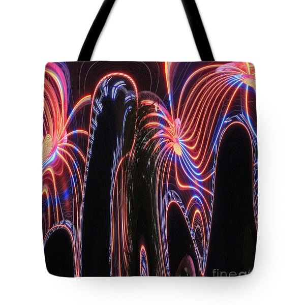 Glowing Curves Tote Bag by Marian Bell