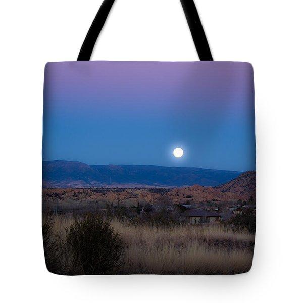 Glowing Full Moon Tote Bag by Phyllis Bradd