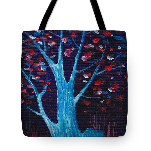 Glowing Night Tote Bag by Anastasiya Malakhova