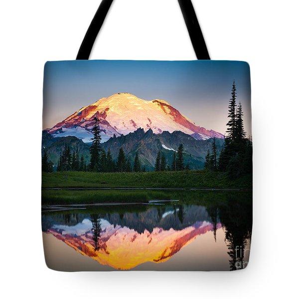 Glowing Peak Tote Bag by Inge Johnsson
