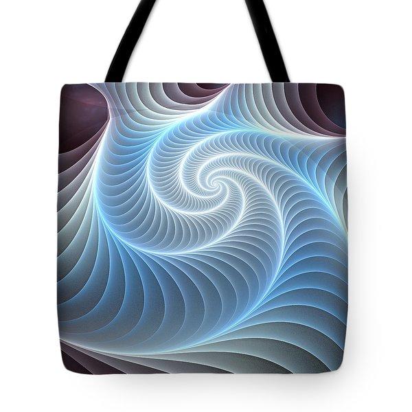 Glowing Spiral Tote Bag by Anastasiya Malakhova
