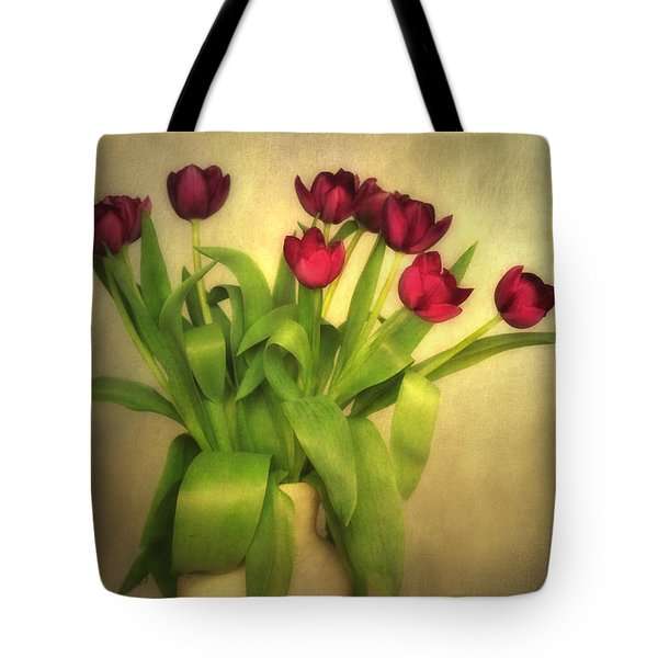 Glowing Tulips Tote Bag by Annie Snel