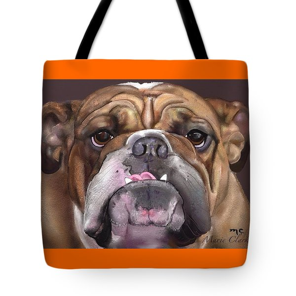 Go Bulldogs Tote Bag by Marie Clark