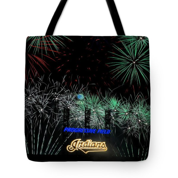 Go Indians Tote Bag by Frozen in Time Fine Art Photography