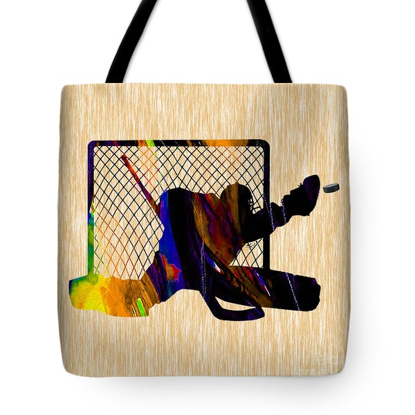 Goalie Tote Bag by Marvin Blaine