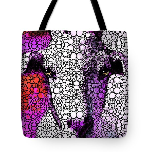 Goat - Pinky - Stone Rock'd Art By Sharon Cummings Tote Bag by Sharon Cummings