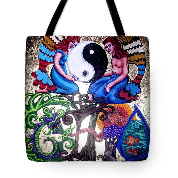 God and Gaia Tote Bag by Genevieve Esson