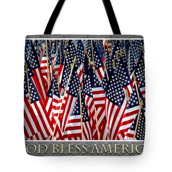God Bless America Tote Bag by Carolyn Marshall