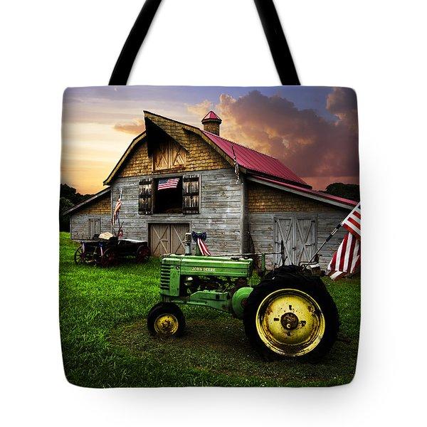 God Bless America Tote Bag by Debra and Dave Vanderlaan