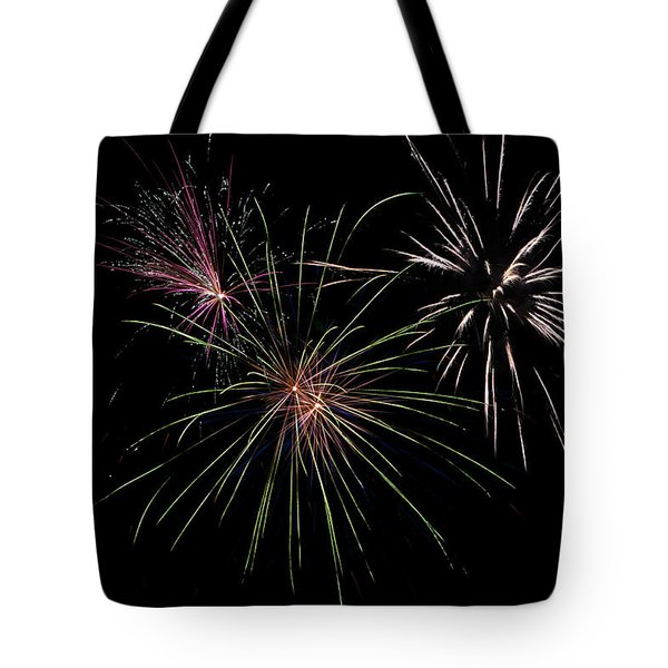 God Bless America Fireworks Tote Bag by Christina Rollo