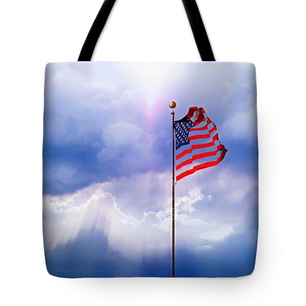 God Bless America Tote Bag by Kume Bryant