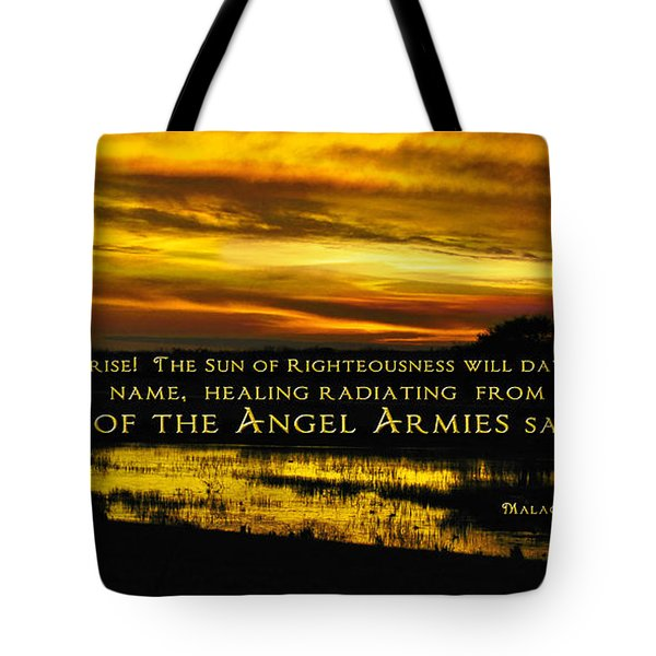 God Of Angel Armies Tote Bag by Constance Woods