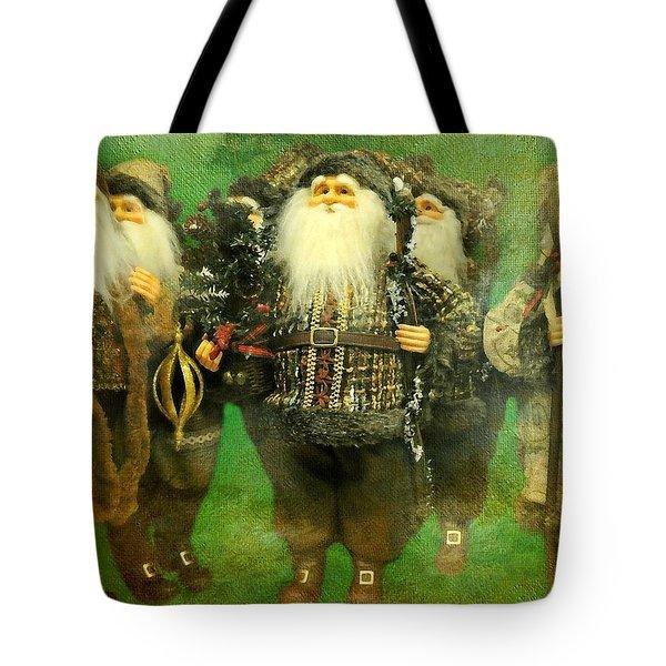 God Rest Ye Merry Gentlemen Tote Bag by Diana Angstadt