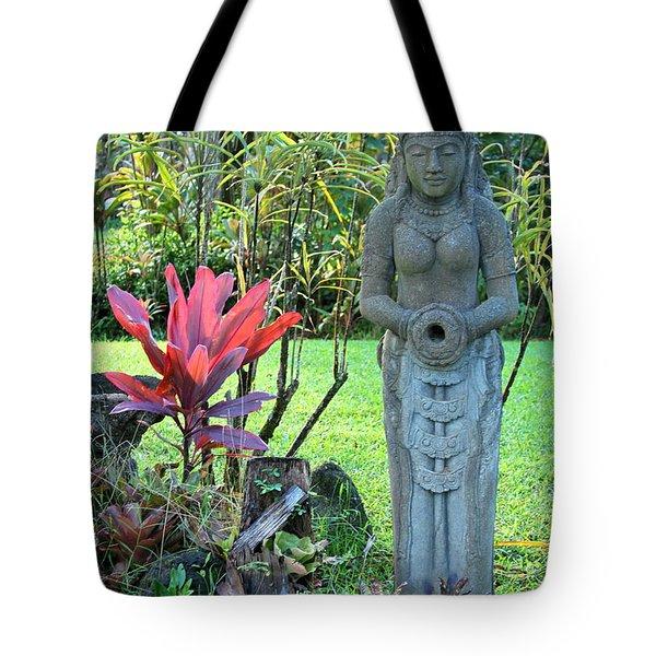 Goddess Bhudevi Mother Earth Tote Bag by Karon Melillo DeVega