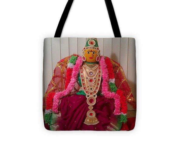 Goddess Lakshmi Idol Tote Bag by M Ande