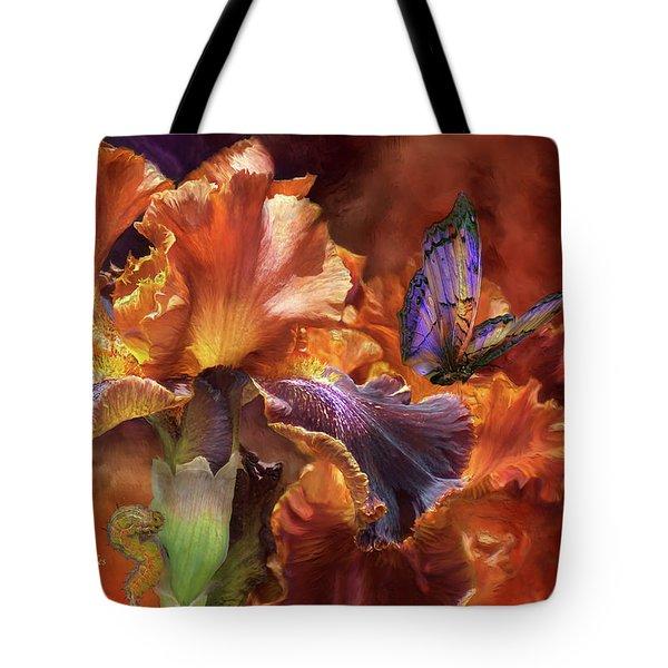 Goddess Of Miracles Tote Bag by Carol Cavalaris