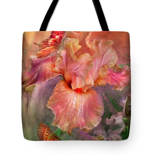 Goddess Of Spring Tote Bag by Carol Cavalaris