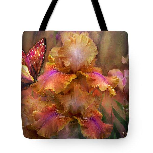Goddess Of Sunrise Tote Bag by Carol Cavalaris