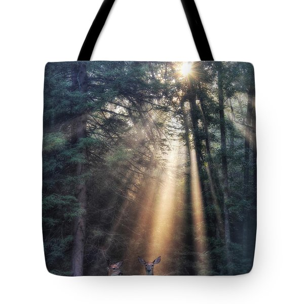 God's Creatures Tote Bag by Lori Deiter