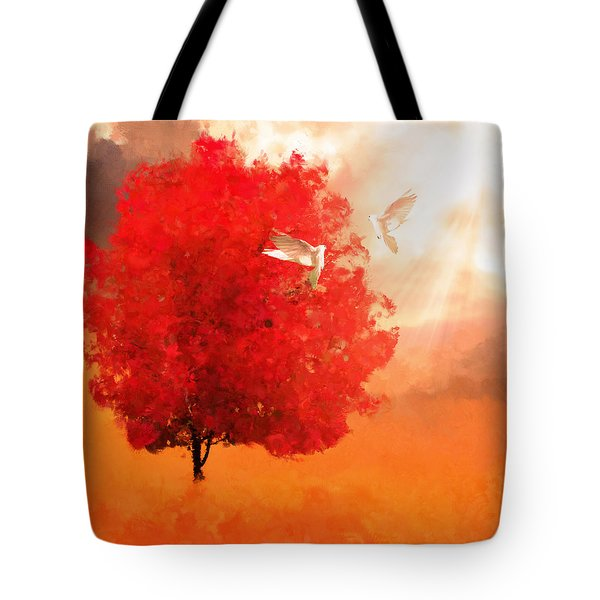 God's Love Tote Bag by Lourry Legarde