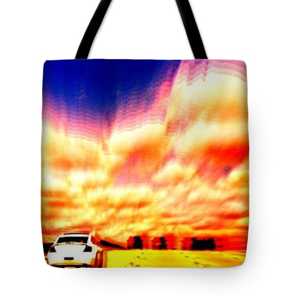 Going For A Ride Tote Bag by Paulo Guimaraes