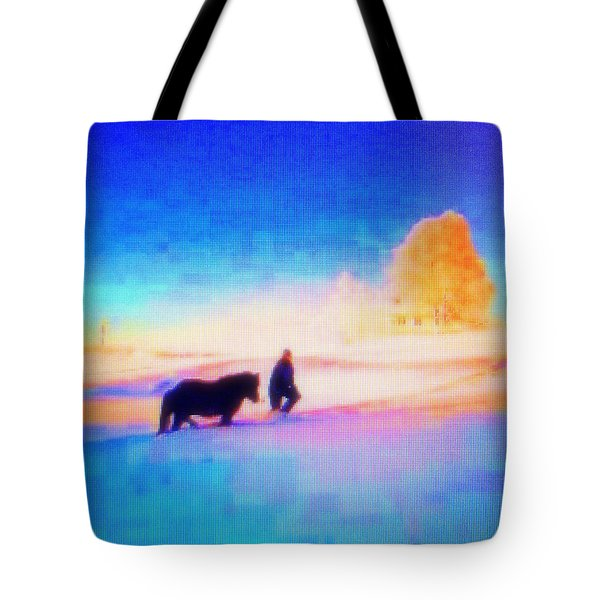 going home Tote Bag by Hilde Widerberg