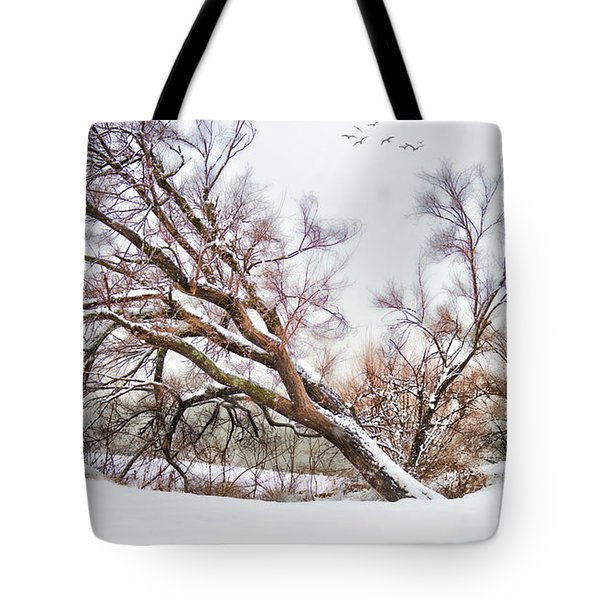 Going Softly Into Winter Tote Bag by Betty LaRue