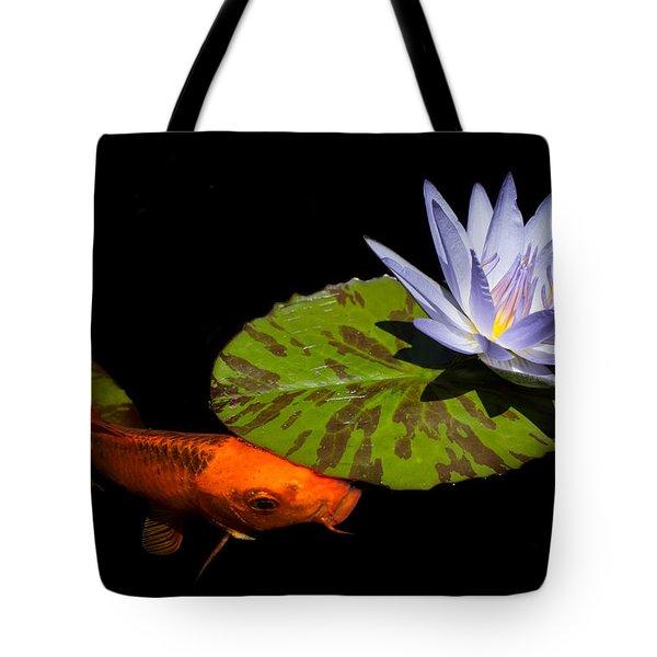 Gold And Blue Tote Bag by Priya Ghose