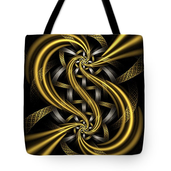 Gold and Silver Tote Bag by Sandy Keeton
