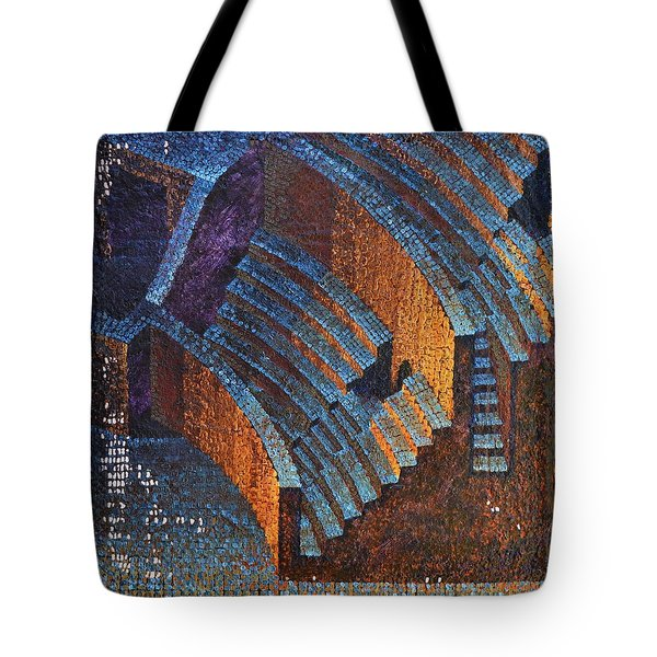Gold Auditorium Tote Bag by Mark Howard Jones