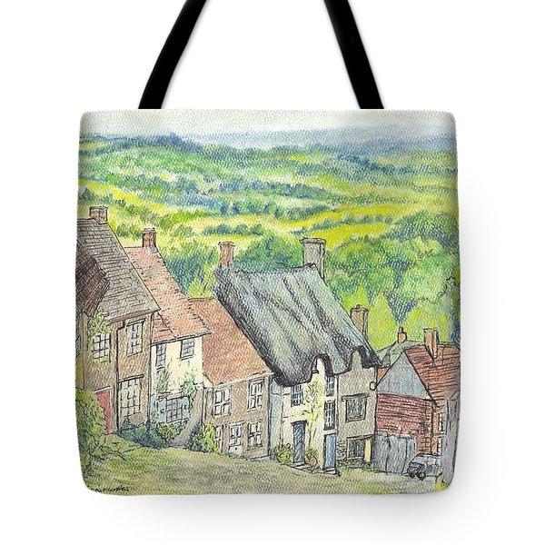Gold Hill Shaftesbury Dorset England Tote Bag by Carol Wisniewski