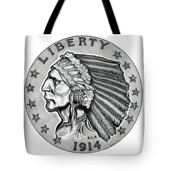 Gold Quarter Eagle Tote Bag by Fred Larucci