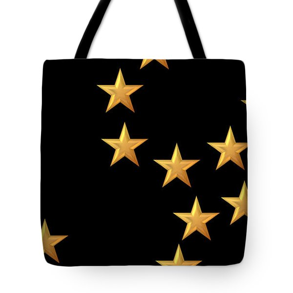 Gold Stars Abstract Triptych Part 2 Tote Bag by Rose Santuci-Sofranko