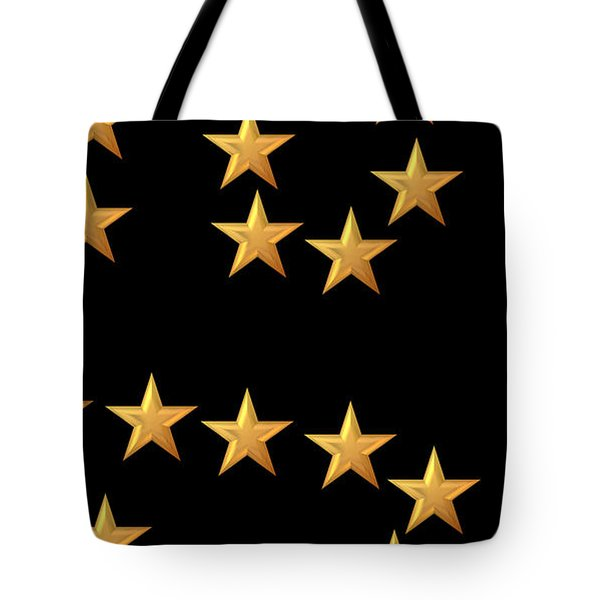 Gold Stars Abstract Triptych part 3 Tote Bag by Rose Santuci-Sofranko