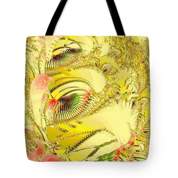 Golden Tote Bag by Anastasiya Malakhova