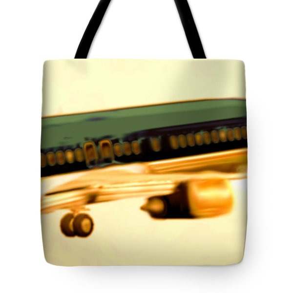 Golden And Bronze Rust Tote Bag by Marcello Cicchini