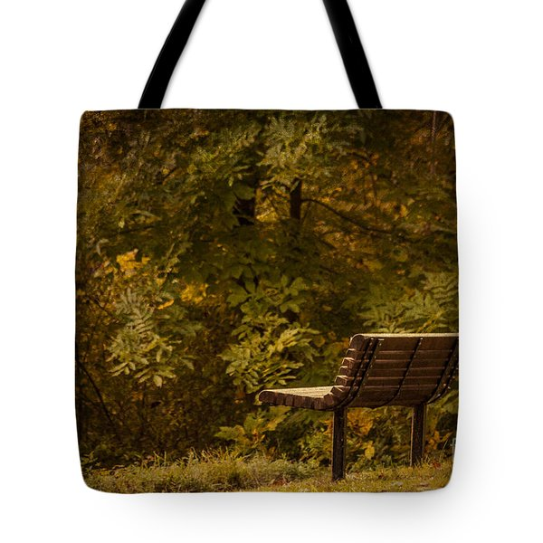 Golden Autumn Solitude Tote Bag by Janice Rae Pariza