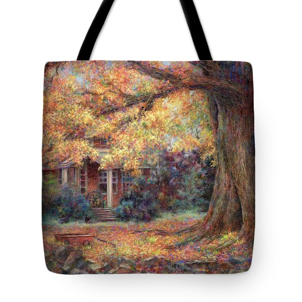 Golden Autumn Tote Bag by Susan Savad