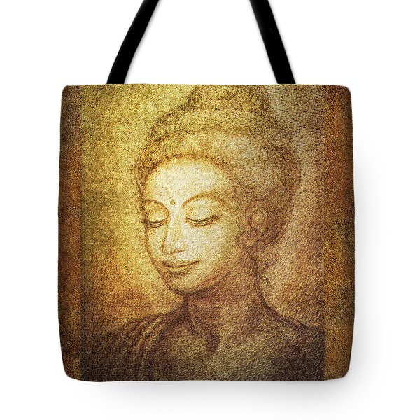 Golden Buddha Tote Bag by Ananda Vdovic