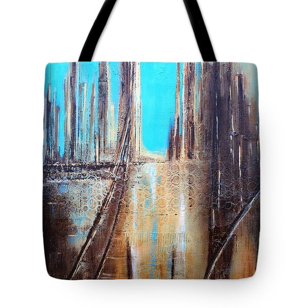 Golden City Tote Bag by Tia Marie McDermid