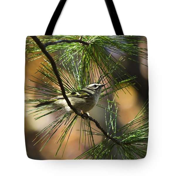 Golden-crowned Kinglet Tote Bag by Christina Rollo