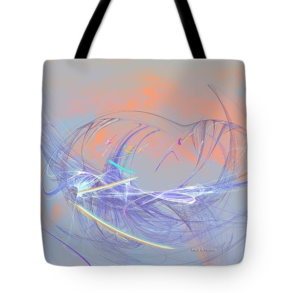 Golden Day Skiers Tote Bag by Angela A Stanton
