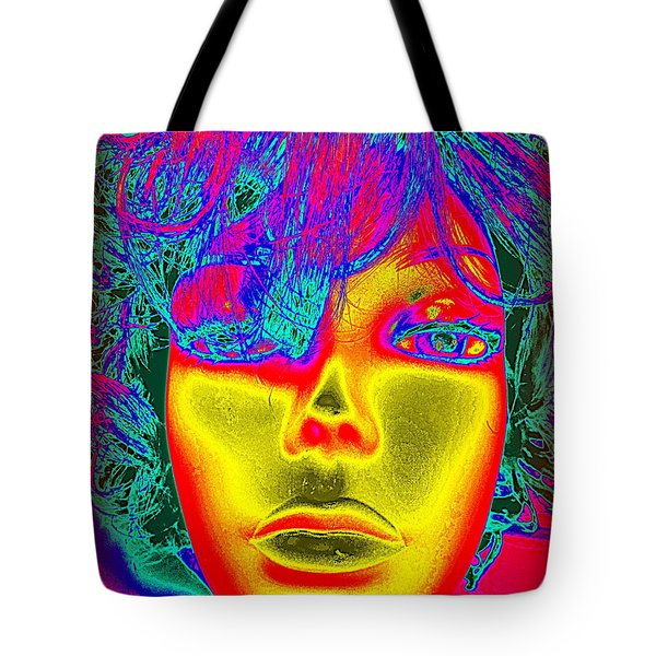 Golden Faced Girl Tote Bag by Ed Weidman