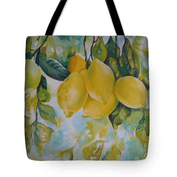 Golden Fruit Tote Bag by Elena Oleniuc