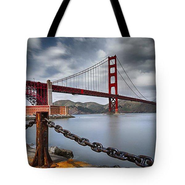 Golden Gate Bridge Tote Bag by Eduard Moldoveanu